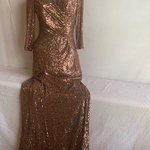 New beautiful Alex Marie sequins long dress sz 6